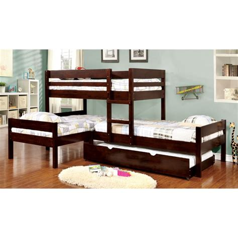 furniture of america bunk beds furniture of america woody bunk bed with
