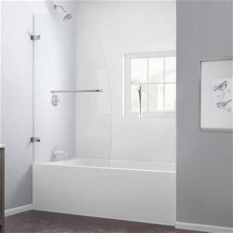 bathtub shower doors home depot dreamline aqua uno 34 in x 58 in frameless pivot tub