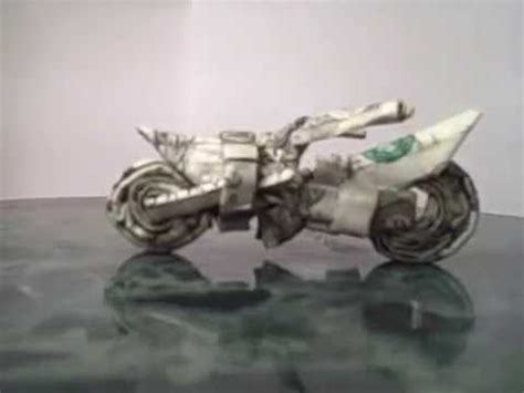 origami motorcycle dollar origami dirt bike
