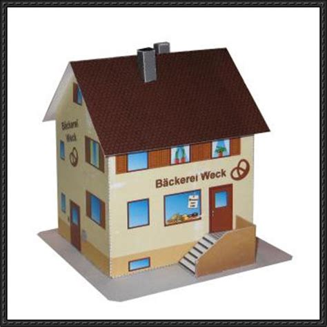 paper craft house papercraftsquare new paper craft a bakery house