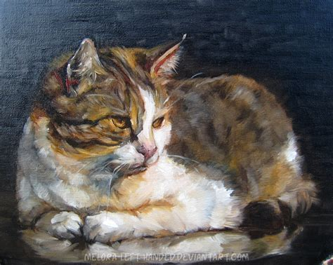 Painting Cat By Woodland Mel On Deviantart