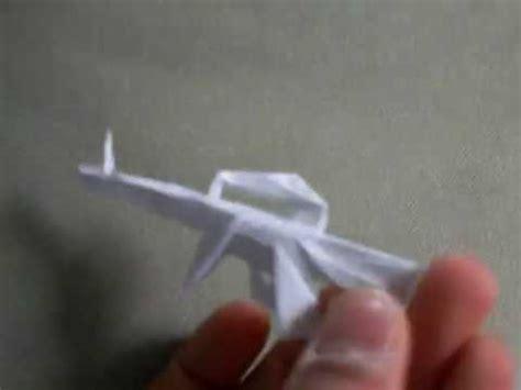 how to make a origami gun origami gun