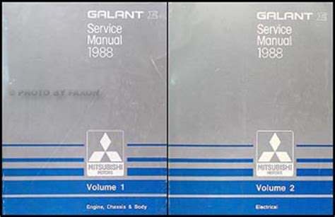 service manual automotive repair manual 1988 mitsubishi cordia instrument cluster service 1988 mitsubishi galant repair shop manual set original