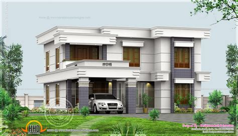 house plans with flats 4 bedroom flat roof design in 2500 sq ft kerala home