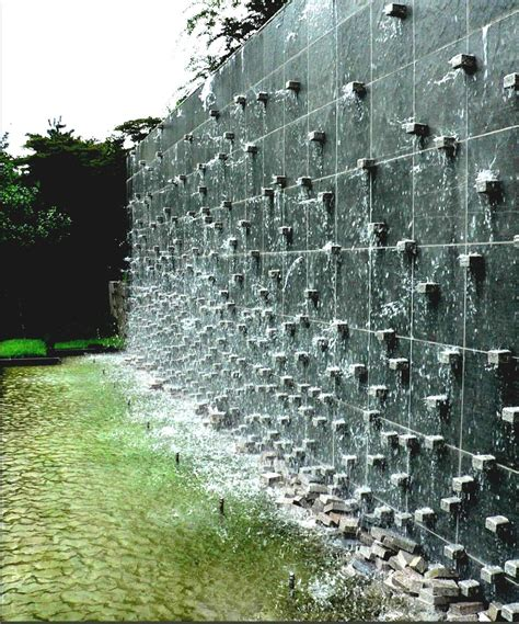 garden feature wall gorgeous outdoor water feature curved garden wall and