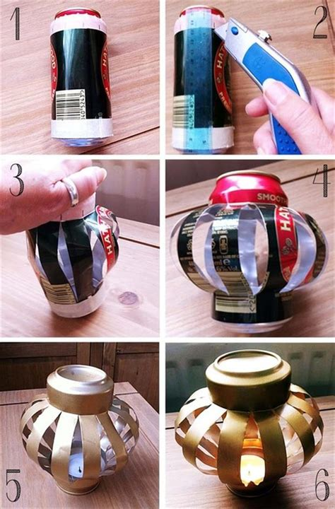 soda can craft projects diy crafty ideas soda can lantern dump a day