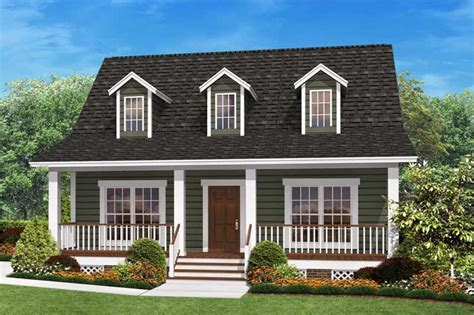 small cape cod house plans small country home plan two bedrooms plan 142 1032