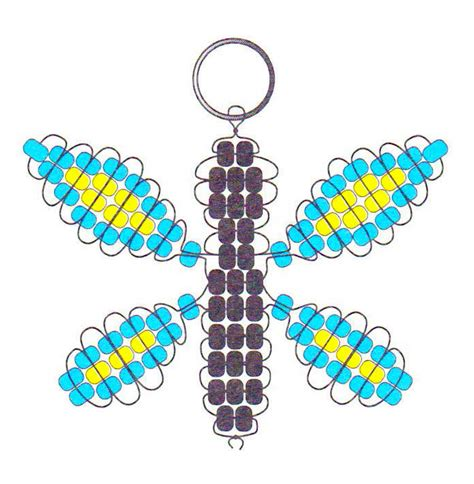 beaded keyring patterns beaded butterfly key chain