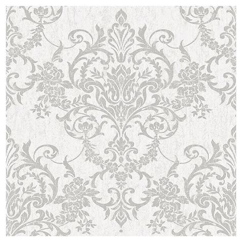 Superfresco Wallpaper by Superfresco Easy Paste The Wall Damask Silver