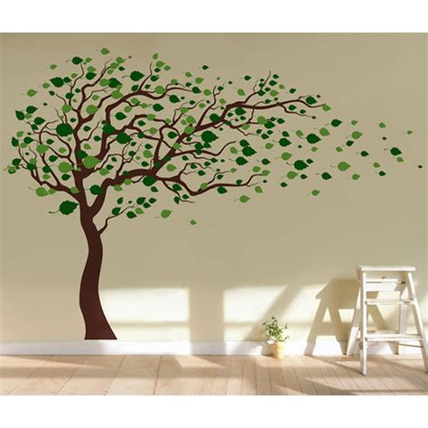 removable stickers for walls pop decors tree blowing in the wind removable vinyl