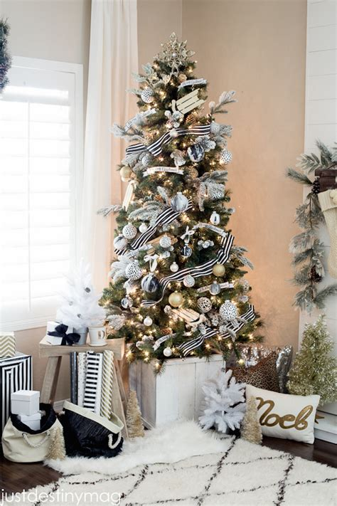 white tree with black decorations 20 chic decorating ideas with a black gold and