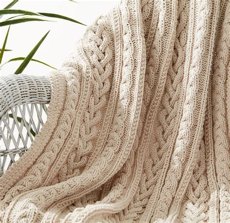 cable knit throw pattern free cable afghan knitting patterns in the loop knitting