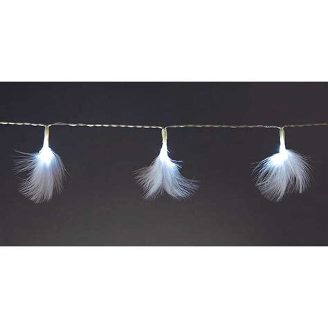 white feather lights white feather string lights battery operated white