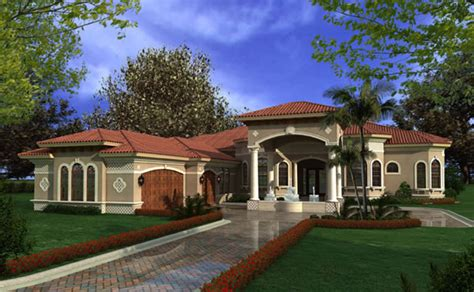 1 story luxury house plans mediterranean house plans luxury 1 story waterfront home