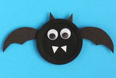 bat crafts for paper plate bat craft ideas preschool crafts