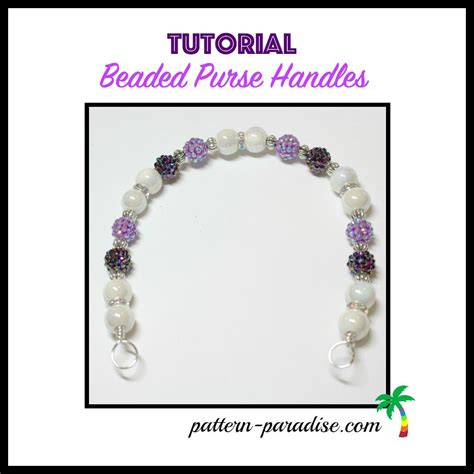 beaded purse tutorial tutorial make your own beaded purse handles pattern