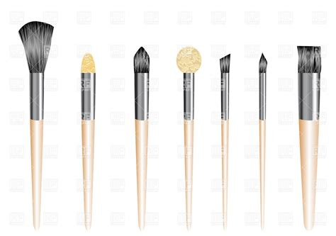 5 brushes free makeup brushes clip images