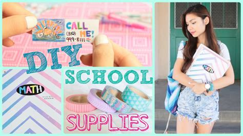 for to make at school diy school supplies back to school 2014