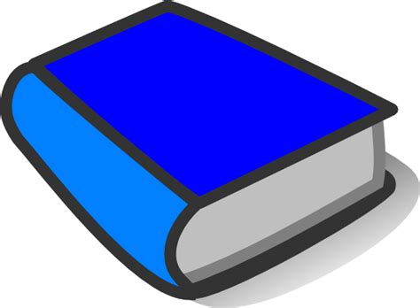 clipart pictures of books blue book reading clip at clker vector clip