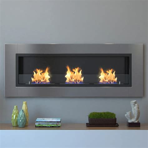 wall mounted ethanol fireplace moda devant 53 in recessed wall mounted ethanol