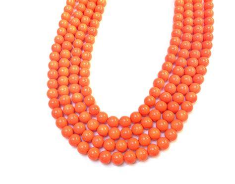 bead world hours orange glass strands