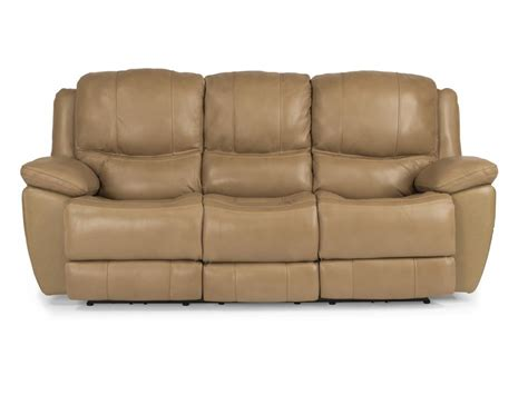 flexsteel reclining sofa flexsteel living room leather power reclining sofa 1491