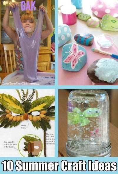 kid craft ideas for summer 10 summer crafts for diy cozy home