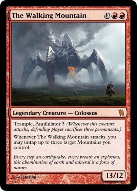 make custom magic cards the walking mountain custom magic card by lataziba on