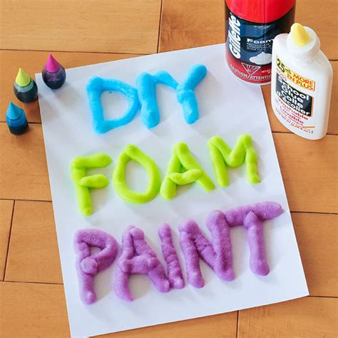 cool crafts 3 ingredient diy foam paint a craft in your day