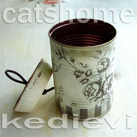 decoupage tin decorative tins made by napkin decoupage 4 by catshome on