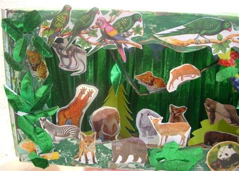 jungle crafts for cards crafts projects jungle diorama
