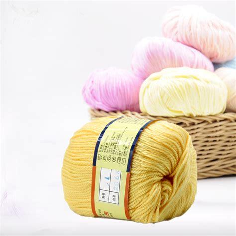 cotton yarn knitting 1pc 50g cotton knitting yarn crochet yarn for knitting