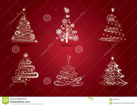 tree lights with different settings tree set stock photos image 36059303