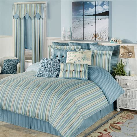 coastal comforters bedding sets clearwater coastal striped comforter bedding
