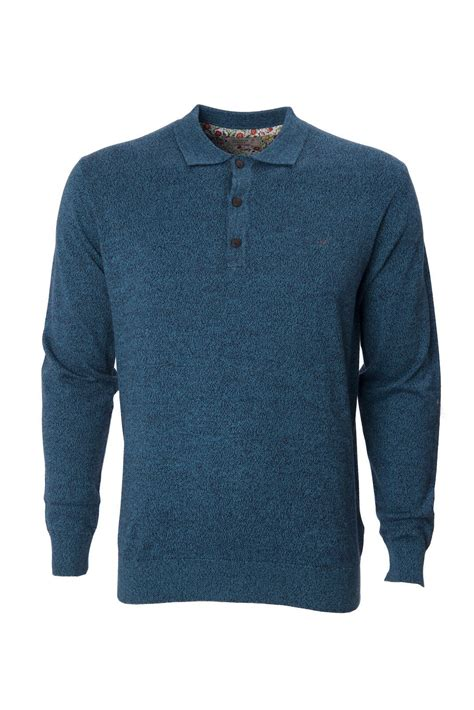 knitted shirts maddox mens knitted polo shirt collared sleeve