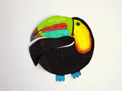 toucan craft for paper plate toucan craft pink stripey socks