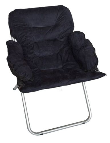 Great For Studying   College Club Dorm Chair   Plush & Extra Tall   Black   Super Soft Seating