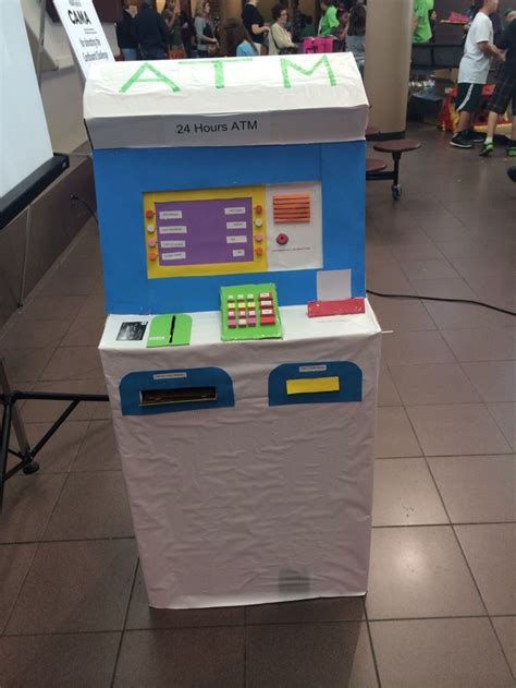 make atm card cardboard atm machine when you the card then money