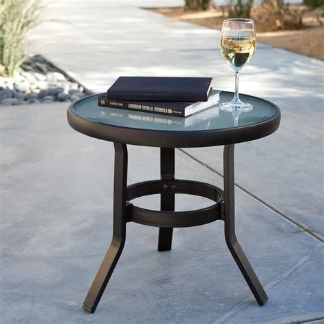 small patio table coral coast 20 in patio side table patio accent tables