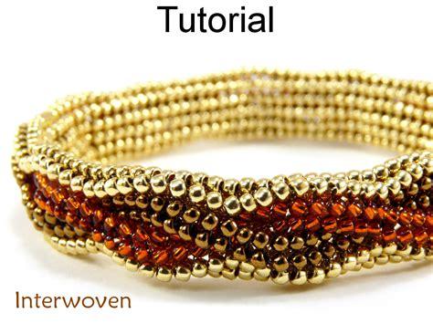 beading stitches beading tutorial pattern bracelet herringbone stitch