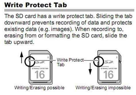 how to make sd card not write protected card s write protect switch is set to lock on screen how