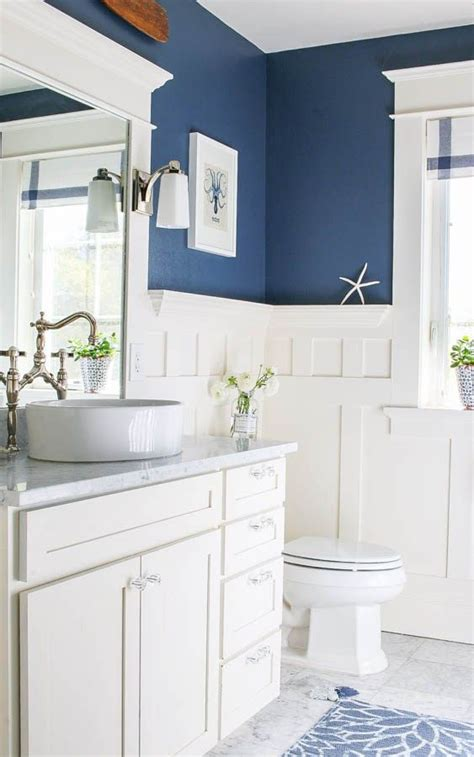 black and blue bathroom ideas navy blue and white bathroom saw nail and paint