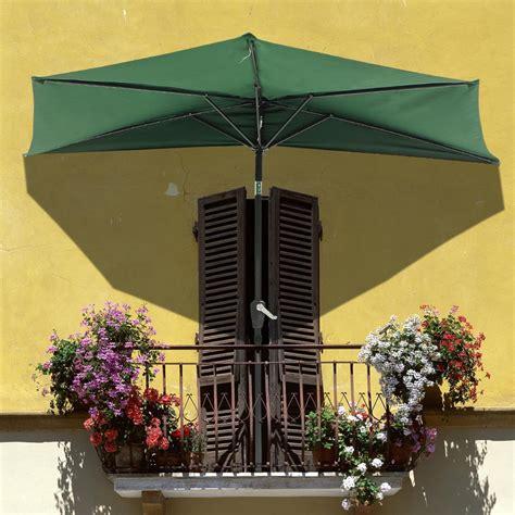 the wall patio umbrella 9ft half umbrella outdoor patio bistro wall balcony door