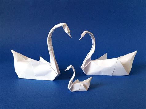 fold origami swan origami swans and swanling
