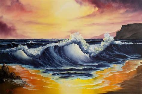 bob ross seascape paintings bob ross and bill on