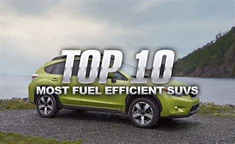 Best Fuel Economy Suv by Top 10 Most Fuel Efficient Suvs 187 Autoguide News