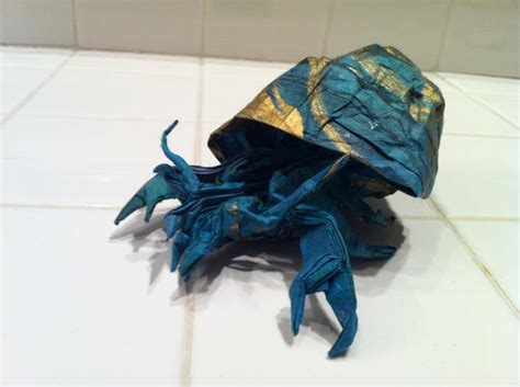 hermit crab origami origami hermit crab by brian chan by mechaprime 00 on