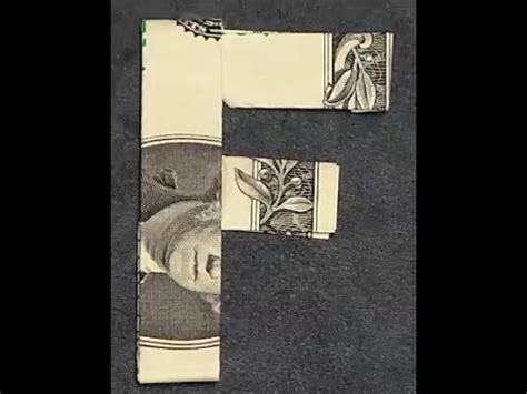 dollar bill origami letters fold origami dollar bill alphabet letter f
