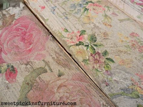 decoupage fabric to wood 17 best ideas about how to decoupage furniture on