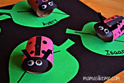 ladybug toilet paper roll craft 15 ladybug crafts for preschoolers my style